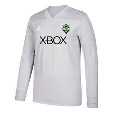 Seattle Sounders FC MLS Adidas Men's Grey Climacool Long Sleeve Training Jersey