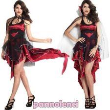 Kostüm karnevalkleid frau KÖNIGIN VAMPIRA kleid verkleidung DL-1605