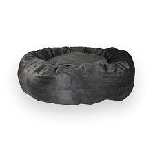 Corduroy – Donut Bed. Black Pet Nesting for Medium & Huge Dogs. Popular Cat Bed!