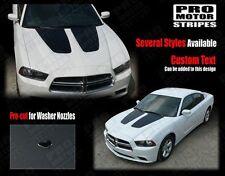 Dodge Charger 2011-2014 Hood Accent or Blackout Decals Stripes (Choose Color)