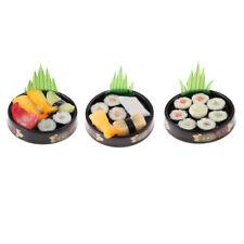 1/6 Dolls House Miniatures Kitchen Japanese Food Sushi Toys - Round Plate