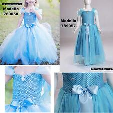 Frozen Elsa Vestiti Compleanno Carnevale Tulle Elsa Girl Cosplay Dress 789057-58