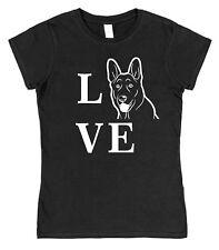 Love berger allemand type Chien Femmes Ajusté T-shirt coton Pet alsacien Elkhound