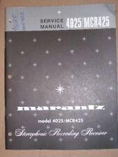Marantz Service Manual~4025/MCR425 Recording Receiver