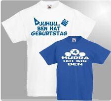 Juhu / Hurra Kinder T-SHIRT Jungen Shirt zum GEBURTSTAG Kindergeburtstag Feier