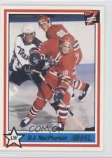 1990-91 7th Inning Sketch OHL #343 BJ MacPherson Oshawa Generals (OHL) B.J. Card