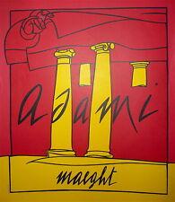 ADAMI Valerio Affiche Originale Lithographie Paris Rome art Abstrait