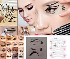 5x Eyeliner Template Eyeshadow Top Bottom Smokey Cat Eye Eyebrow Stencil Shaper