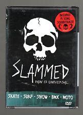 Slammed (DVD) Skate, Surf, Snow, Bmx, Moto, Includes 19 Song Soundtrack CD! NEW!