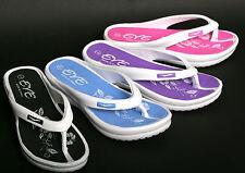 New Women's Sport Slide Sandals Foam Rubber Wedge Pool Summer Beach Spa Shoe's