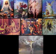 3D 3-D Bild sehr plastisch Jesus, Madonna & Schutzengel 30x40 cm Lenticular
