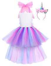 Kids Girls Unicorn Tutu Fancy Dress Party Princess Fluffy Halloween Costume Set