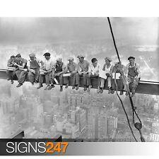 LUNCH ON A SKYSCRAPER MEN ON GIRDER NEW YORK (1017) Poster Print A0 A1 A2 A3 A4