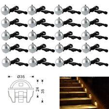 10/20PCS 35mm Outdoor LED Deck Step Sair Fence Light 12V Half Moon Low Voltage