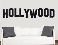 Panneau hollywood mur art vinyle autocollants rétro icône film transferts murals decals
