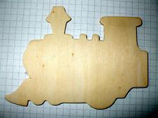 Forme en bois train. boîtes de 3, 6 ou 9 bois ornements vide plaques
