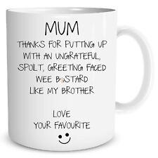 Funny Novelty Mug Gift Mum Mothers Day Birthday Favourite Child Cups WSDMUG1039