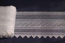Gardine Scheibengardine Macrameesockel echte Stickerei Meterware nach Maß Typ137