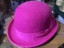 Melegari Cappello a Bombetta in feltro di lana Fucsia