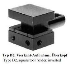 VDI Typ D2 Vierkant-Aufnahme, Überkopf / square tool holder inverted
