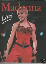 MADONNA  live !  1988 gorgeous colour photobook  italy