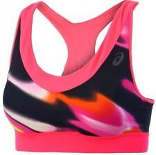 New ASICS Sports Bra Vest Tank Top Ladies Womens Running Gym Fitness Black Pink