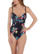 Lepel LE172181 Swimwear Tropics Moulded Plunge Swimsuit in Black Print