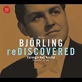 Bjorling Rediscovered: Carnegie Hall Concert Sept. 24 1955 (CD, Sep-2003, RCA)