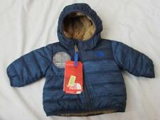 NORTH FACE baby boys reversible blue brown hood plush Chimborazo jacket warm NEW