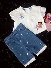 Dora the Explorer Girls Outfit 2pc Capri Set Size 12 Mos  NWT