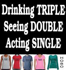Funny T-Shirts Buck's Night Hen's Drinking  Singlet bourbon vodka beer  size