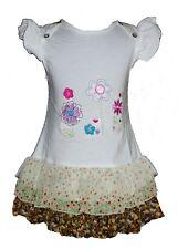 Bebé Niña Vestido Flores Algodón de fiesta rosa white 6 9 12 18 24 meses