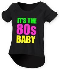 Es la de los ochenta Baby señoras Gota Cola Top 8-18 Outfit Fancy Dress Costume Neon 80's