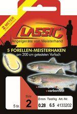 Paladin Classic Forellen Teighaken (200cm) Gebundene Angelhaken