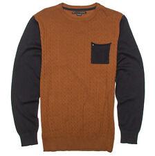 bd01e1818814 Billabong Distress Crewneck Assorted Pullover Fleece Sweater Knit Shirt  Large