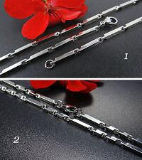 Edelstahlkette massiv Halskette Kette Herrenkette 50/60cm Edelstahl