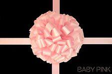 Baby rosa grande fiocco handmade in UK per Regalo Auto Moto Bus Varie Taglie