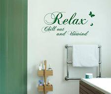 Relax Chill-Out Relajarse baño Transferencia Adhesivo Pegatina DE PARED MURAL