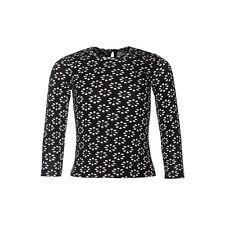 Mim-Pi Langarm-Shirt/Longsleeve Flower schwarz weiß NEU 116 122 128 134 146