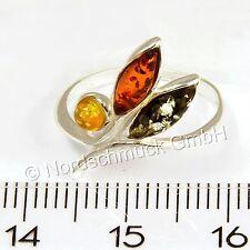 Bernstein Ring Bernsteinring Amber 925er Silber kleine große Größen 48-59 K240