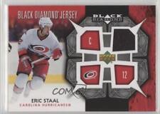 2007 Upper Deck Black Diamond Jerseys BDJ-ES Eric Staal Carolina Hurricanes Card