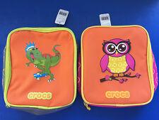 "CROCS Insulated Lunch Bag Box (Choose Dinosaur or Owl)  9x8"""