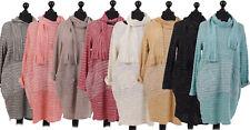 New Italian Ladies Women Lagenlook Multi Colour Top with Scarf Plus Size 16-24