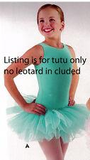 NWT 3 LAYER ORGANDY TUTU #4905 Wolff Fording Pistachio Grn Ballet Dance child sz