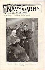 1899 BOER WAR ~ QUEEN VICTORIA RECEIVING MISS AGNES WESTON AT WINDSOR CASTLE
