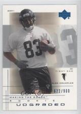 2001 UD Graded #90.2 Alge Crumpler Atlanta Falcons Rookie Football Card