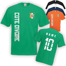 Elfenbeinküste Côte d'Ivoire T-Shirt Trikot incl. Name & Nummer S M L XL XXL