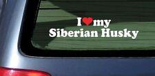 I Love My Siberian Husky Sticker Vinyl Decal Car Window Sibe Sled Dog Arctic