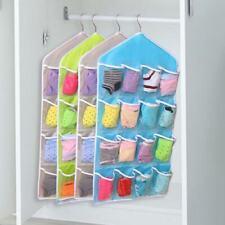 16Pockets Clear Over Door Home Hanging Bag Rack Hanger Organizer Storage