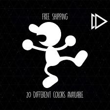 Mr Game and Watch Vinyl Decal Sticker Car Laptop - Nintendo SSB Melee Brawl Logo